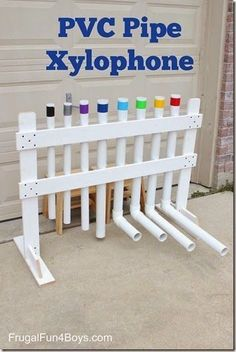 PVC Xylophone - This is such a fun idea for kid to play with music outdoors as a summer activity for kids!