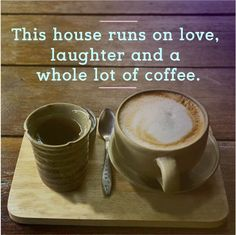This is incredibly accurate in my house :-) Happy Saturday! Coffee Talk, My Coffee, Happy Tuesday, Happy Saturday, Buy Makeup Online, Tgif Fridays, Avon Online, Luxury Candles, Avon Representative