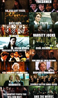 Harry Potter and Mean Girls is always a good idea.