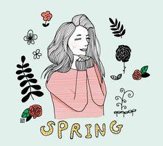 Love spring Enjoy spring thanks GOD  #spring #leaf #flower #rose #season #illustration #pen ##color #drawing #seah @seahbetterlifegram