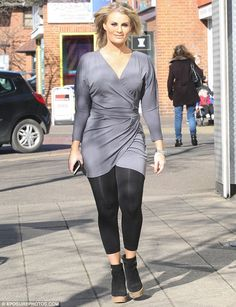 Moving on: Danielle Armstrong put on a brave face as she stepped out in Hornchurch, Essex,...