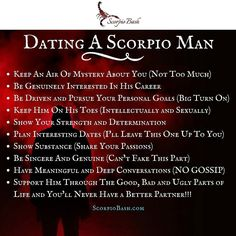 dating a scorpio man online