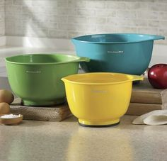 3-Piece Assorted Mixing Bowl Set by Kitchenaid