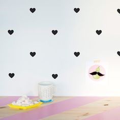 Love Wall decal / Tiny hearts Vinyl Sticker / by MadeofSundays