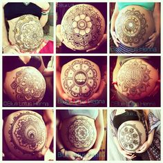 Some of my favorite bellies from 2015. I donate a portion from every belly henna I do to the Bumi Sehat Foundation in Bali, Indonesia. In 2015 I raised $425 thanks to all the mamas who came to me for their belly blessings!