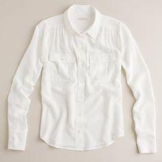 Blythe blouse in silk via Polyvore