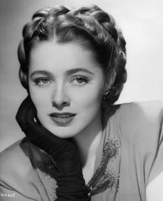 Eleanor Parker -- she was nominated for Oscars in 1950, 1951 and 1955. A true beauty remembered most nowadays for playing the Baroness in the film version of THE SOUND OF MUSIC, but she played much better and more memorable roles.  https://en.wikipedia.org/wiki/Eleanor_Parker