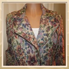 Free People Tapestry Jacket Floral tapestry zip up jacket. Zippers on sleeves as well. Distressed look, total vintage! Lined inside, plum color. Shell 100% Polyester. Lining 65% Polyester, 35% Cotton Free People Jackets & Coats