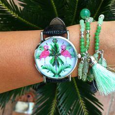 WOODSTOCK ZAMBON WATCH! Take Your Time! Shop: www.woodstockzamb... Instagram:https://www.instagram.com/woodstockzambonvalentina/ #woodstockzambon #style #streetstyle #orologi #watch #summer2016 #fenicottero #flamingo #fenicotterosa