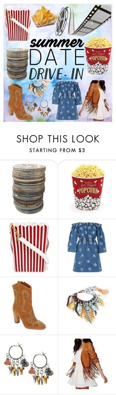 """Movie date time!"" by nemesisleto ❤ liked on Polyvore featuring West Bend, MUA MUA, House of Holland, Donald J Pliner, Obel, DateNight, drivein and summerdate"