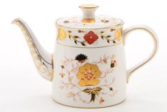 """Royal Crown Derby """"Traditional Imari"""" Tea Cups and """"Gadroon Rose"""" Coffee Pot Royal Crown Derby, Crown Royal, China Teapot, English China, Rose Tea, How To Make Tea, Chocolate Pots, China Patterns, Tea Cup Saucer"""