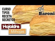 TODO SOBRE EL HOJALDRE | LOS BARONI | ALL ABOUT THE PUFF PASTRY - YouTube Puff Pastry Dough, Macaroni Recipes, Inexpensive Meals, Challah, Sponge Cake, Empanadas, Pasta Sable, Food Videos, Food To Make