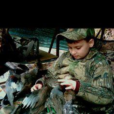 First time to go duck hunting with dad... I know G can't wait to take Ave with him when he's older!