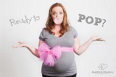 San Diego Maternity Studio Shoot | #maternity #belly #readytopop | Aaron Huniu Photography