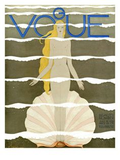 Vogue Cover - July 1931  by Georges Lepape