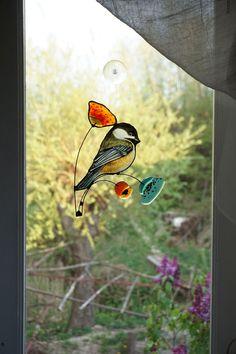 Chickadee bird suncather