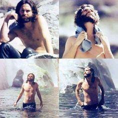 "Jim Morrison, screen shots from his experimental film ""HWY"" #jimmorrison #jimmorrisonHWY #jimmorrisonshirtless #jimmorrisonbeard #thedoors"