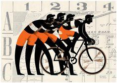 illustration / Bicycling Magazine / Douglas Jones / via Behance