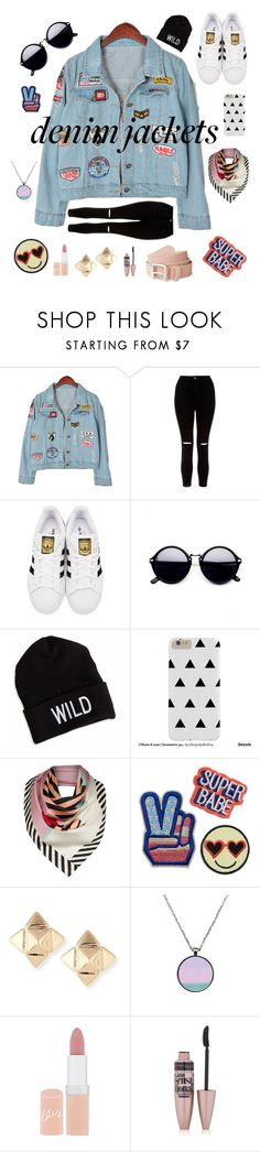 """""""Young look"""" by julietarequena ❤ liked on Polyvore featuring Chicnova Fashion, New Look, adidas Originals, American Eagle Outfitters, Lulu Guinness, Valentino, Rimmel, Maybelline, denimjackets and WardrobeStaples"""