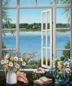 charming window view
