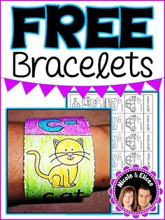FREE learning bracelets for literacy and math! :)
