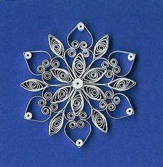 Znalezione obrazy dla zapytania snowflakes quilling