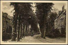 1905-1915 – Breda (toen gemeente Teteringen). Ginnekenweg met tramrails, gezien vanuit het zuiden.