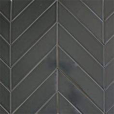 modwalls USA made 2x8 ceramic subway tile in gray color Carbon - also look at the striped Chevron pattern...