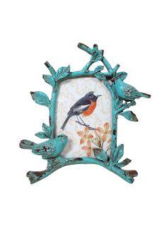 A Loja do Gato Preto   Moldura Pássaros Azul #alojadogatopreto