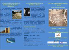 XV Curso de arqueología romana de Pollentia, (Alcúdia, Mallorca, Islas Baleares), del 8 de julio al 3 de agosto de 2013.