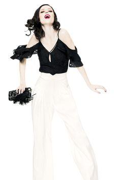 Model: Coco Rocha    Z Spoke by Zac Posen Spring 2013 RTW