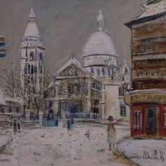 Maurice Utrillo (1883-1955) Montmartre, dét. (1938) musée Paul Dini, Villefranche-sur-Saône (Rhône, France) by Denis Trente-Huittessan, via Flickr