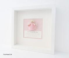 Taufgeschenke, Babygeschenke, Schutzengel Bild, kleiner Filzengel rosa 1