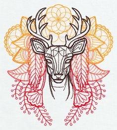 Anima - Deer | Urban Threads: Unique and Awesome Embroidery Designs