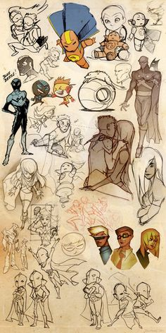Young Justice Sketch Blitz 3 by ~dou-hong on deviantART