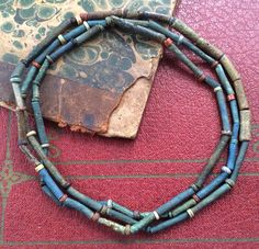 Ancient Egyptian faience mummy beads. Collection of Stephan perfect, Springfield Illinois.