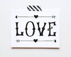 Carte de la main, Saint Valentin, anniversaire, mariage de l'amour by ThePaperCub