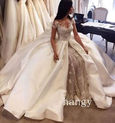Detachable Mermaid Wedding Dress Luxury Beading Lace Cathedral Train Bridal Gown | Clothing, Shoes & Accessories, Wedding & Formal Occasion, Wedding Dresses | eBay!