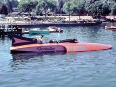 Two things,, I watch that stupid show Salvage Dogs and in one show they come across a small hydro that would of had an outboard, it was just like the. Speed Boats, Power Boats, Salvage Dogs, Drag Boat Racing, Powerboat Racing, Vintage Boats, Cool Boats, Tri Cities, Wooden Boats