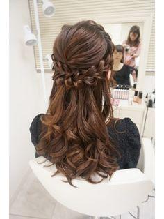 The hair is the richest ornament of women. Bride Hairstyles, Pretty Hairstyles, Easy Hairstyles, Quinceanera Hairstyles, Long Hair Wedding Styles, Medium Hair Cuts, Hair Designs, Bridal Hair, Hair Inspiration