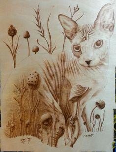 Smeags by DanteRabbiteer.deviantart.com on @DeviantArt. Sphynx Cat