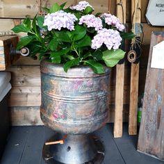 FUSIONMINERAL, Decoupage ,poshcalk Workshops buchbar Annie Sloan, Decoupage, Planter Pots, Workshop, Lifestyle, Creative, Art, Old Washing Machine, Repurpose