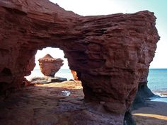 The red cliffs of Thunder Cove, Prince Edward Island