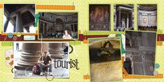 tourist spread using mostly products from Bedouin Nights kit by Marisa at pixelscrapper