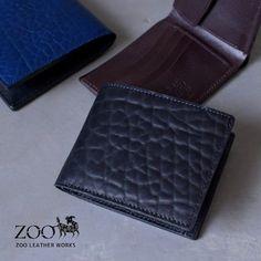 ZOO(ズー)メンズブルハイド牛革2折財布zbf-015
