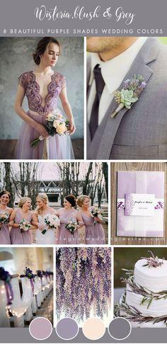 8 Stunning Wedding Colors In Shades Of Purple Purple Wedding
