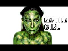 Lufy - GOLD REPTILE GIRL - MAQUILLAGE HALLOWEEN FACILE - HALLOWEEN MAKE UP EASY SNAKE - YouTube