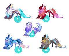 Yevren Dragon Mutation Adoptables + Deer (closed) by VanillaToxin on DeviantArt