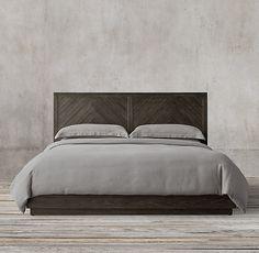 Herringbone Platform Bed Master Bedroom Plans, Rh Rugs, Furniture Vanity, Modern Shop, Platform Bed, Home Hardware, First Home, Home Furnishings, Luxury Homes