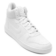 9b7ab676a36 Tênis Couro Cano Alto Nike Recreation Mid Masculino - Branco